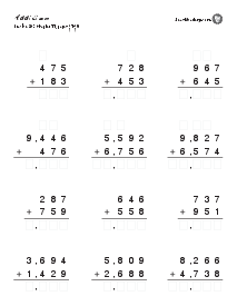 Addition and Subtraction Practice: Practice p. 41-49 Thumbnail