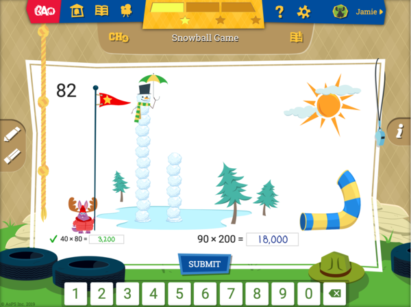 BA Online - Multiplication Snowball Game