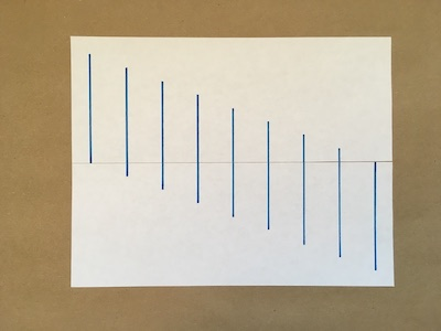 Nine lines drawn on a piece of paper