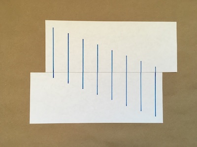 Eight lines drawn on a piece of paper