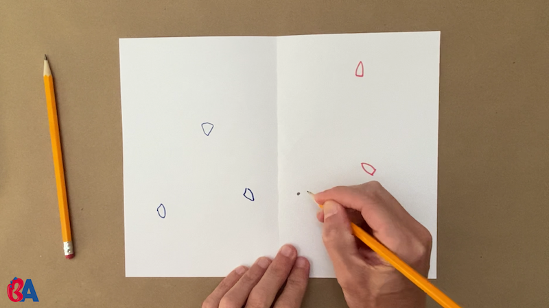 Drawing a dot in pencil