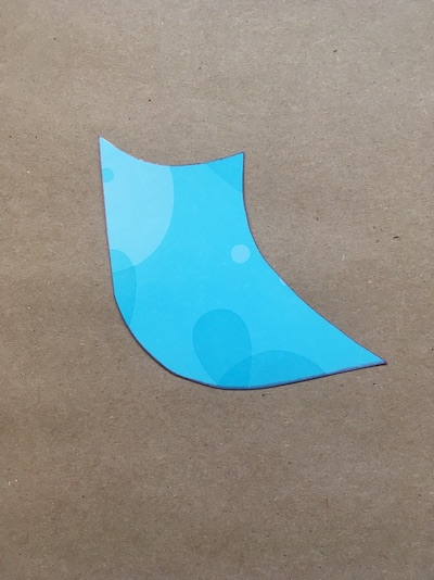 A shape pointing left