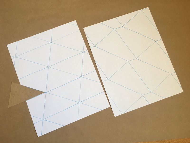 Papers tiled by triangles and quadrilaterals