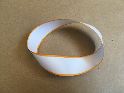 Mobius strip with edge fully colored