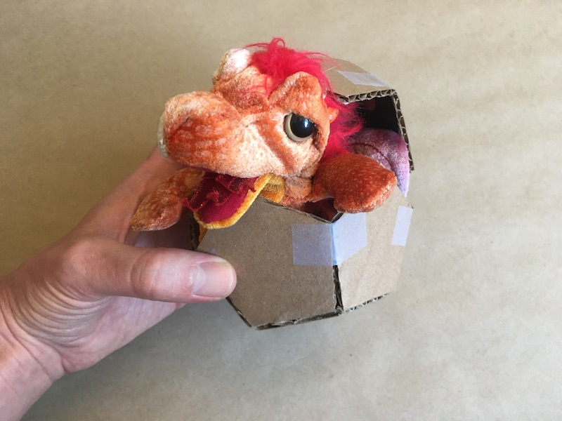 Dodecahedron with a dragon coming out