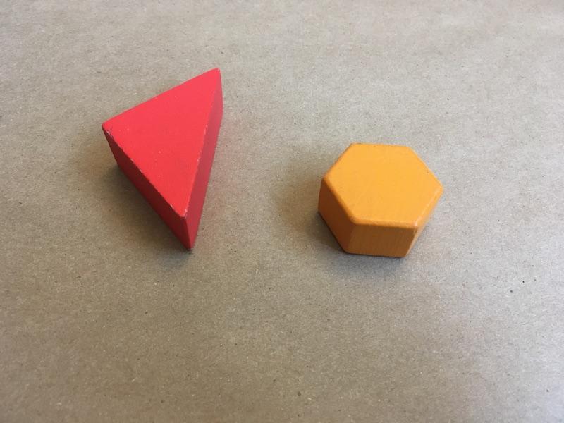 Red block and orange block