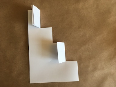 Piece of folded paper