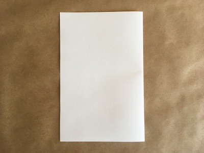 Piece of paper folded in half