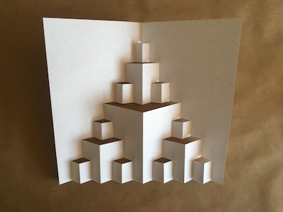 Folded piece of paper