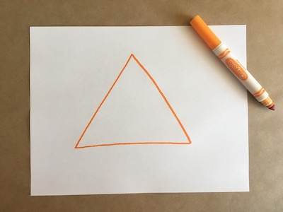Triangle drawn on a piece of paper