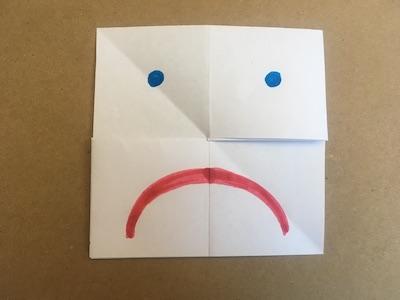 Flexagon with sade face